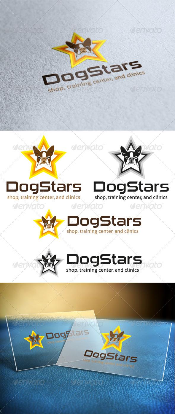 Dog Stars Logo - Animals Logo Templates