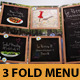 "Food Menu ""Chalkboard"" Tri-Fold - GraphicRiver Item for Sale"