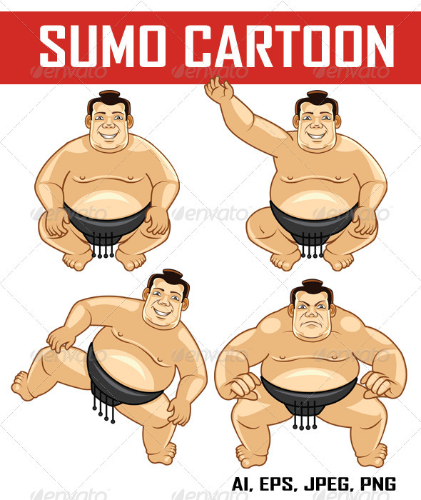 Sumo Cartoon - People Characters
