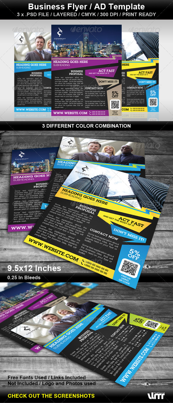 Business Flyer - AD Template - Corporate Flyers