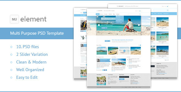 NuElement – Business PSD Template