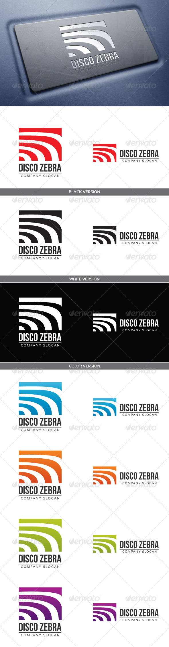 Disco Zebra Logo - Vector Abstract