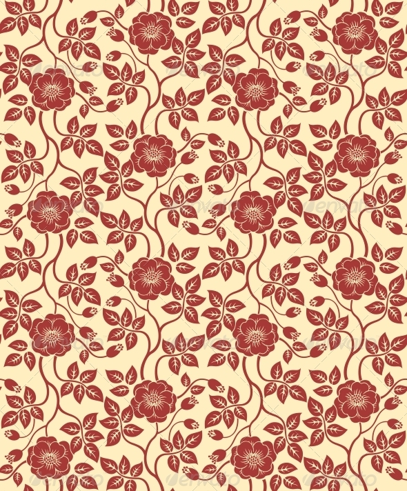 Seamless Floral Background - Patterns Decorative