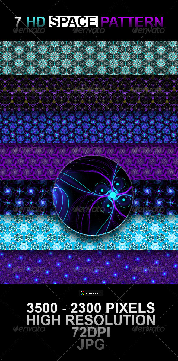 7 HD Space Pattern - Patterns Backgrounds