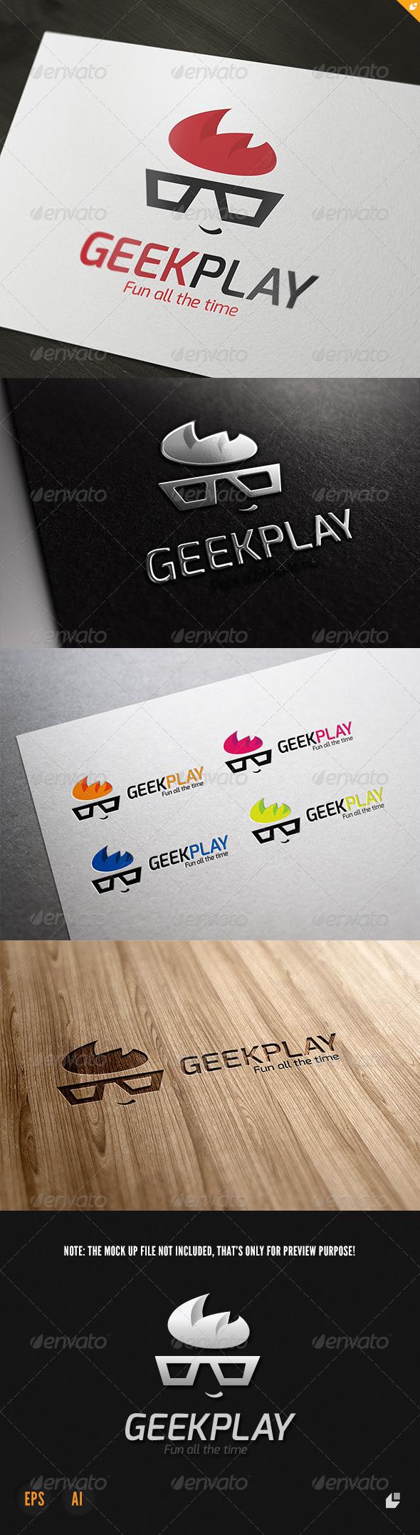 Geek Play Logo - Humans Logo Templates