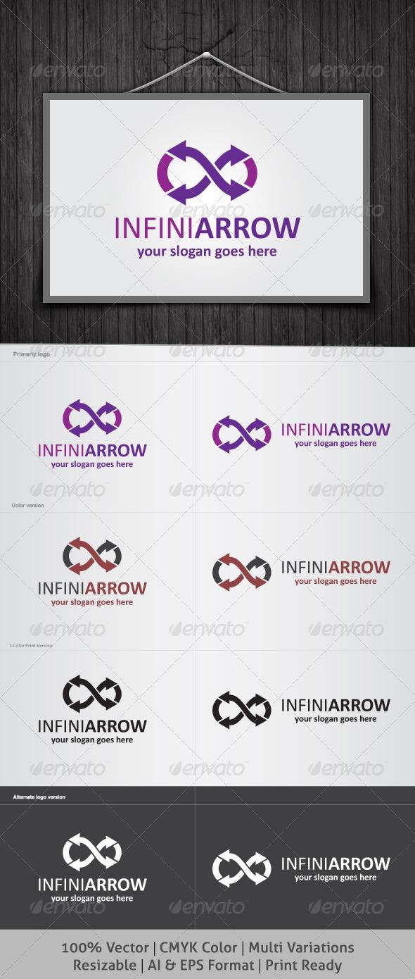 Infinity Arrow Logo - Symbols Logo Templates