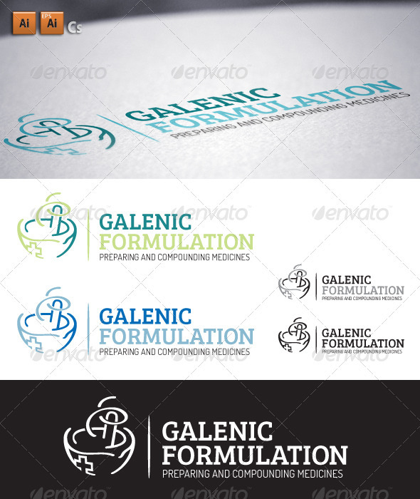 Galenic Formulation - Objects Logo Templates