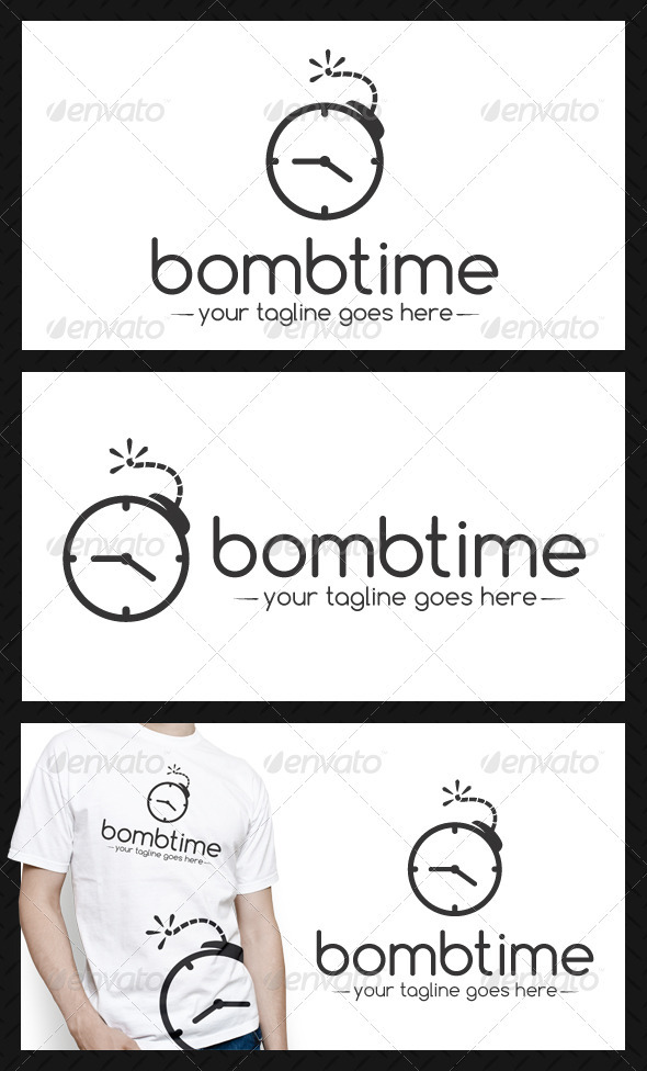 Bomb Time Logo Template - Objects Logo Templates