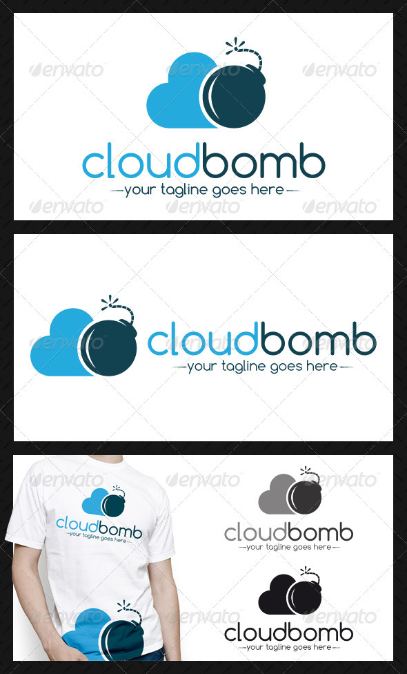 Cloud Bomb Logo Template - Objects Logo Templates