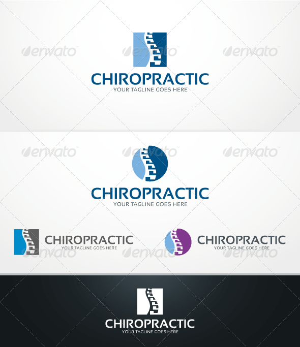 Chiropractic - Logo Template - Humans Logo Templates