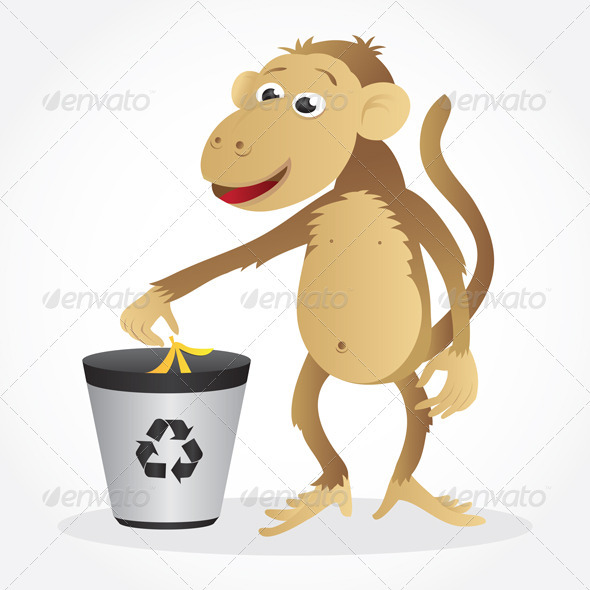Monkey Recycling - Animals Characters