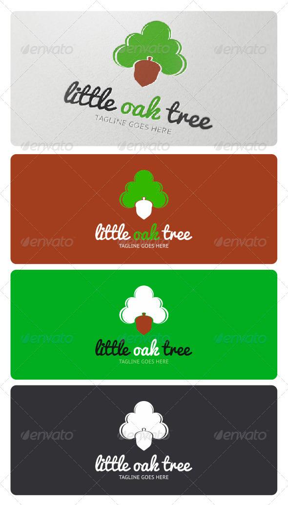 Little Oak Tree Logo - Nature Logo Templates