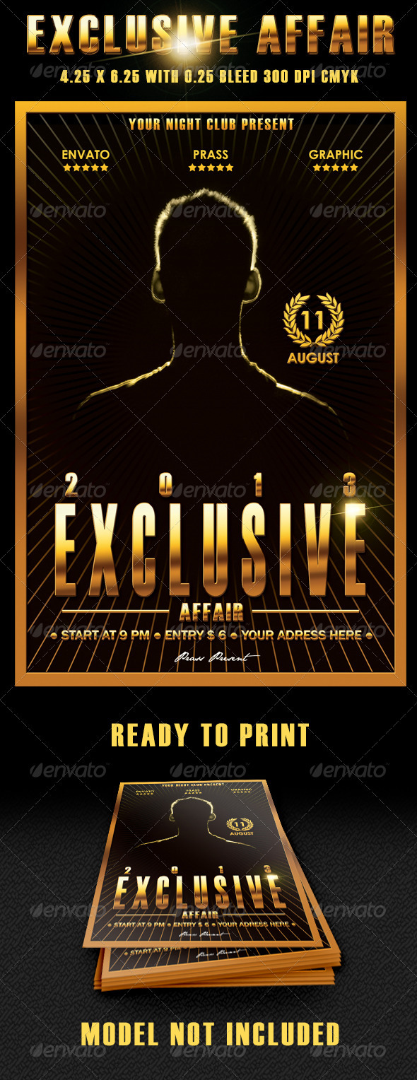 Exclusive Affair Flyer Template - Clubs & Parties Events