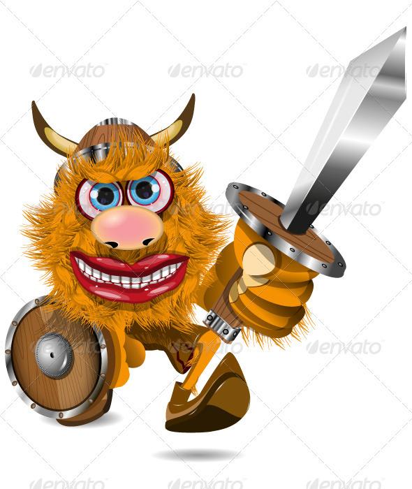 Aggressive Viking - People Characters