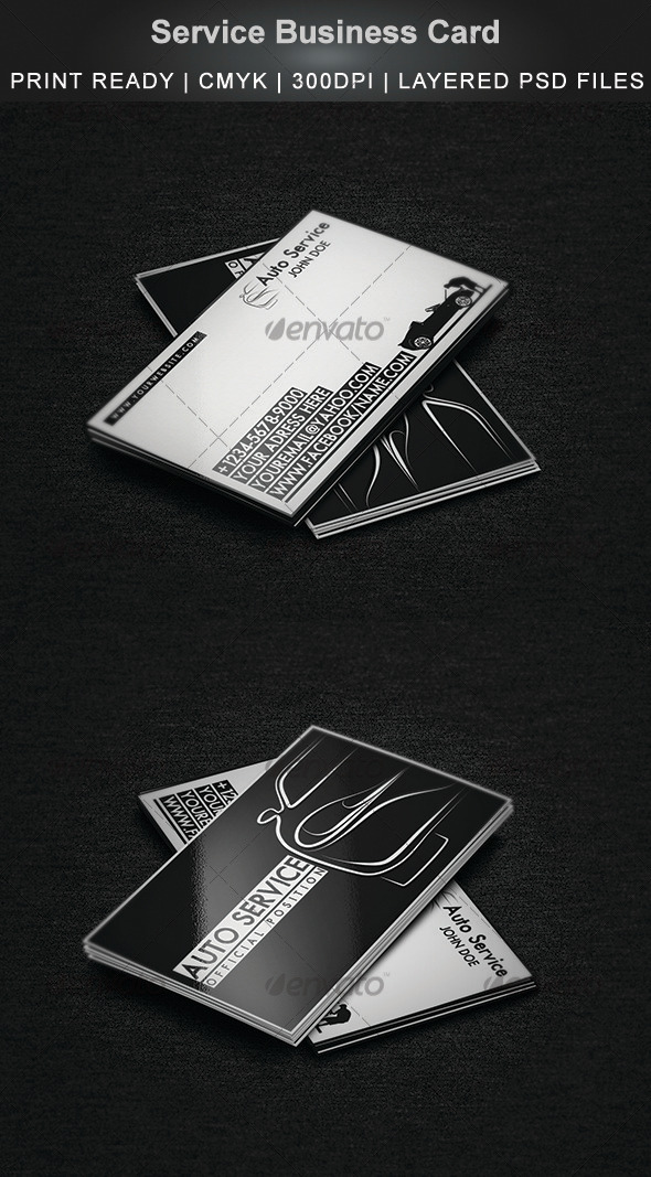 Service Business Card - Industry Specific Business Cards