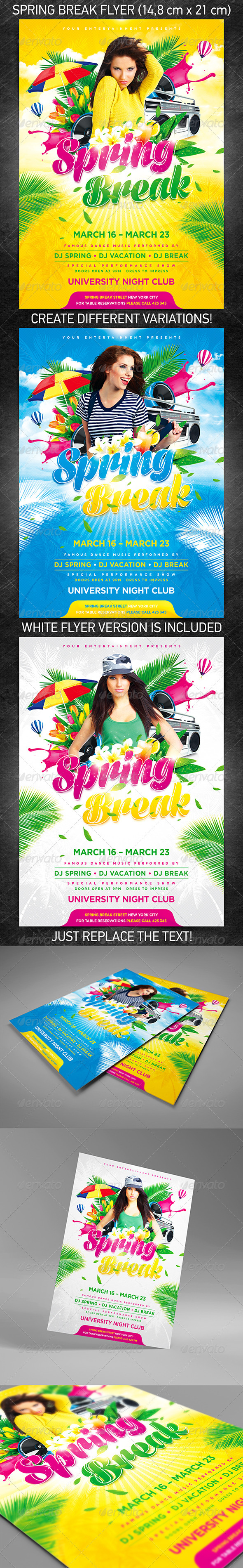 Spring Break Party Flyer - Holidays Events