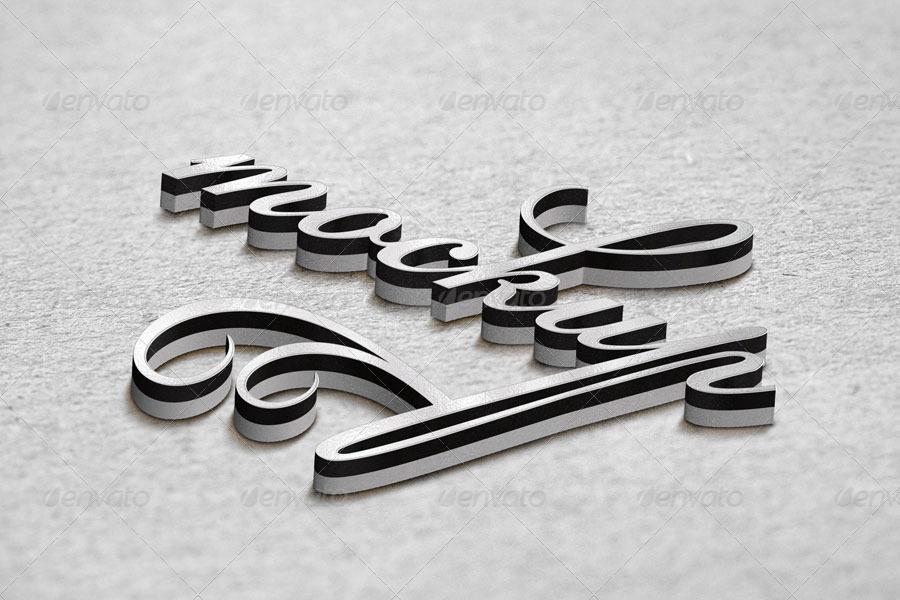 3D Logo Mockup - 9 Styles