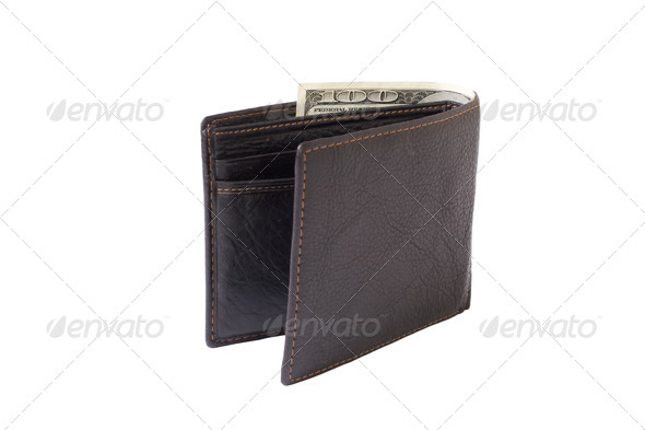 purse with dollars - Stock Photo - Images