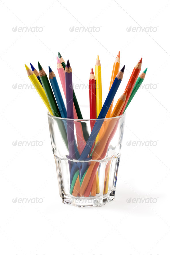 coloured pencils - Stock Photo - Images