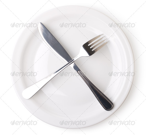 empty kitchen plate - Stock Photo - Images