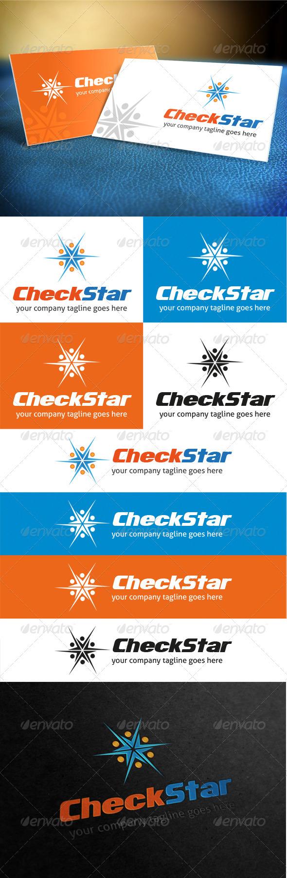 Check Star Logo - Symbols Logo Templates
