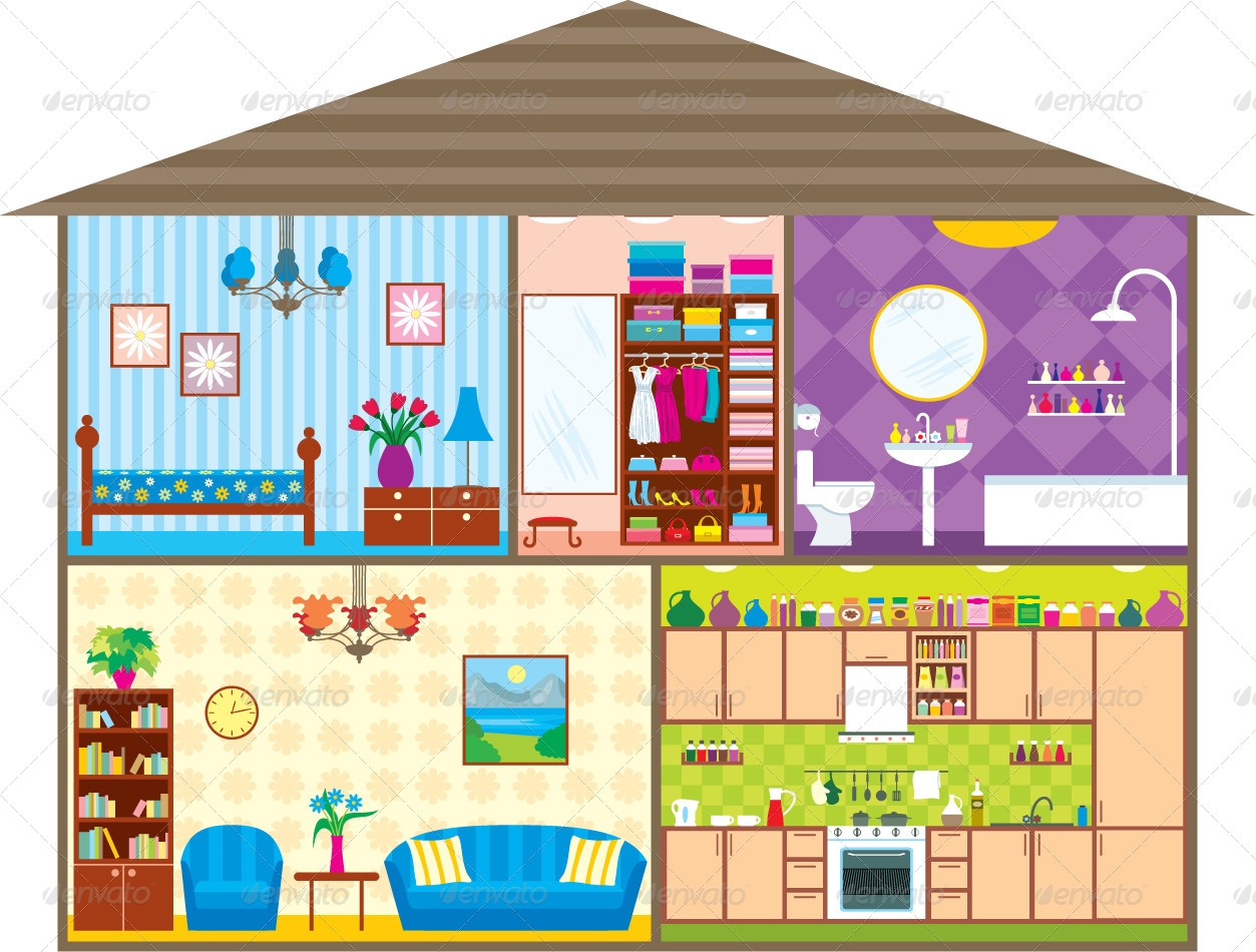 Line Art Dollhouse : House by gurzzza graphicriver