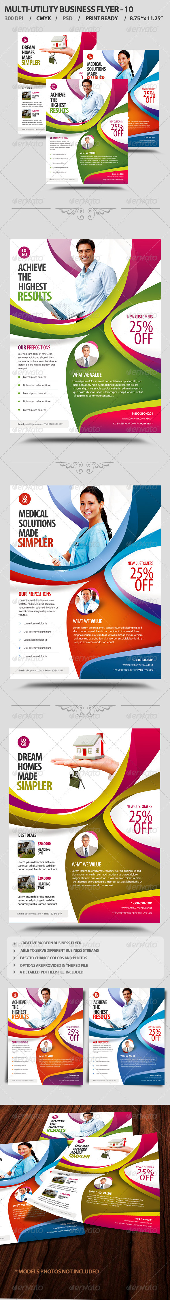 Multi-Utility Business Flyer 10 - Corporate Flyers