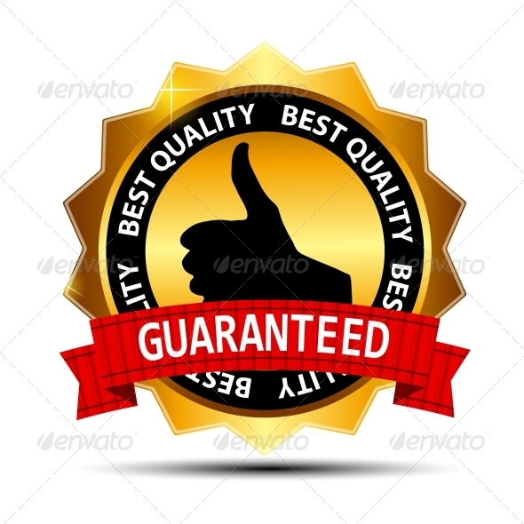 Best Quality Guaranteed Gold Label with Red Ribbon - Retail Commercial / Shopping