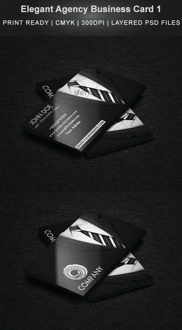 Elegant Agency Business Card 1 - Corporate Business Cards
