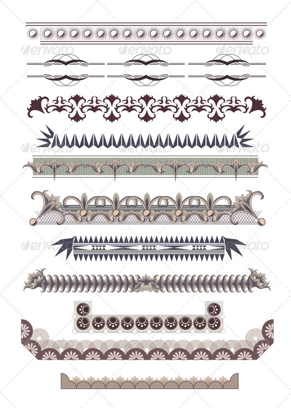 Set of Certificate Borders - Borders Decorative