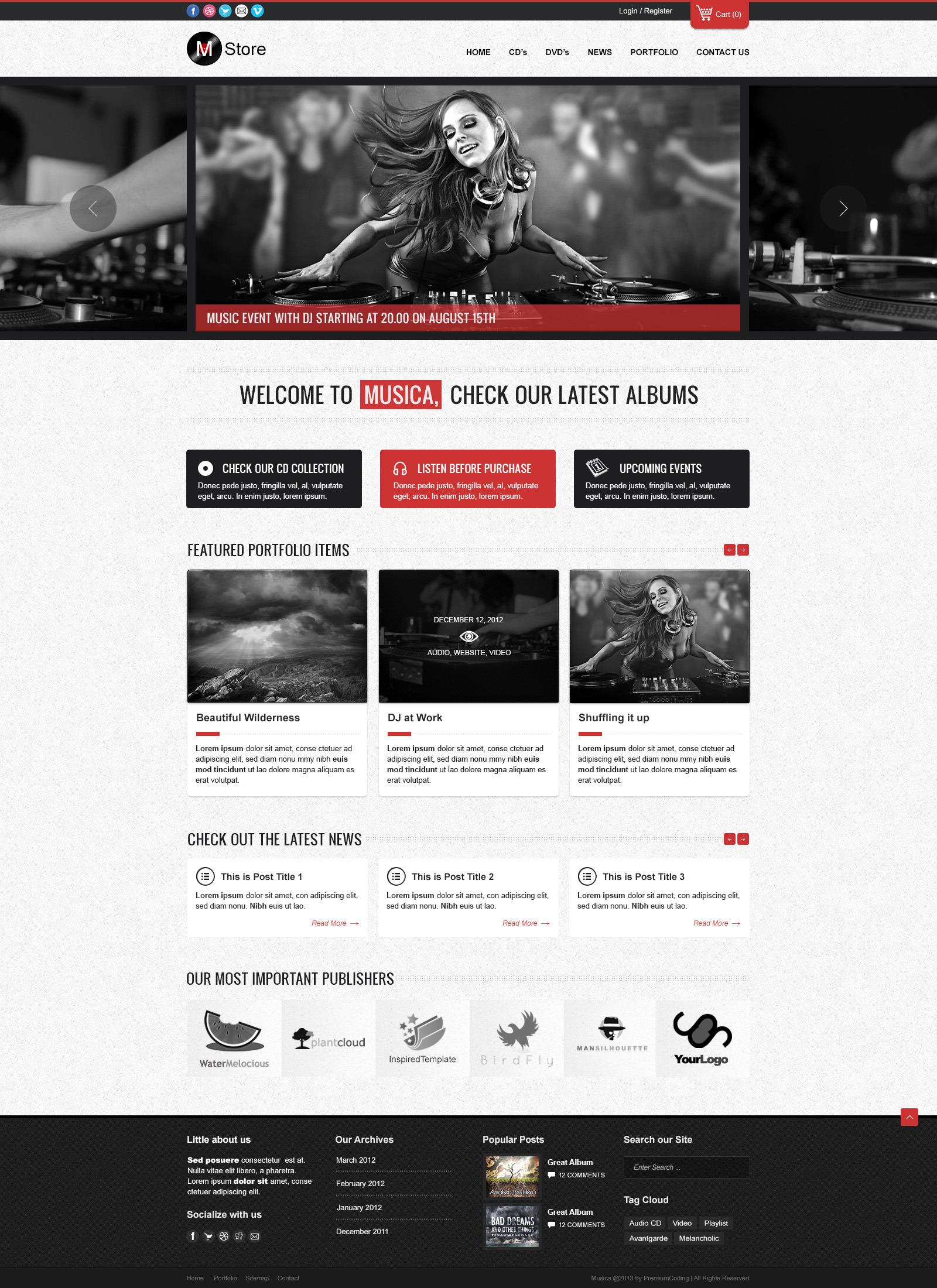Rock Palace - Music Wordpress Theme by gljivec   ThemeForest