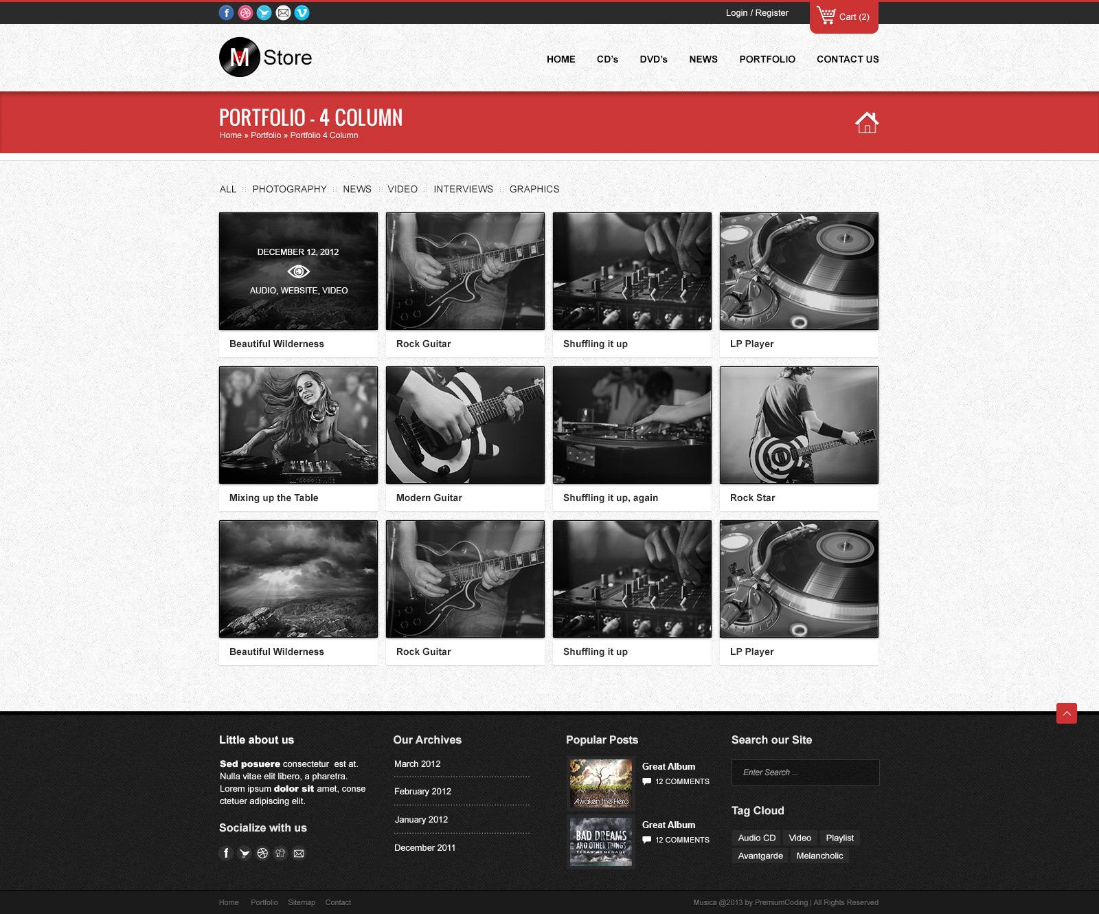 Rock Palace - Music Wordpress Theme by gljivec | ThemeForest