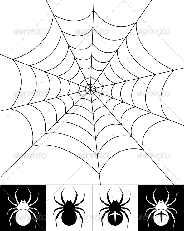 Spiders and web - Animals Characters