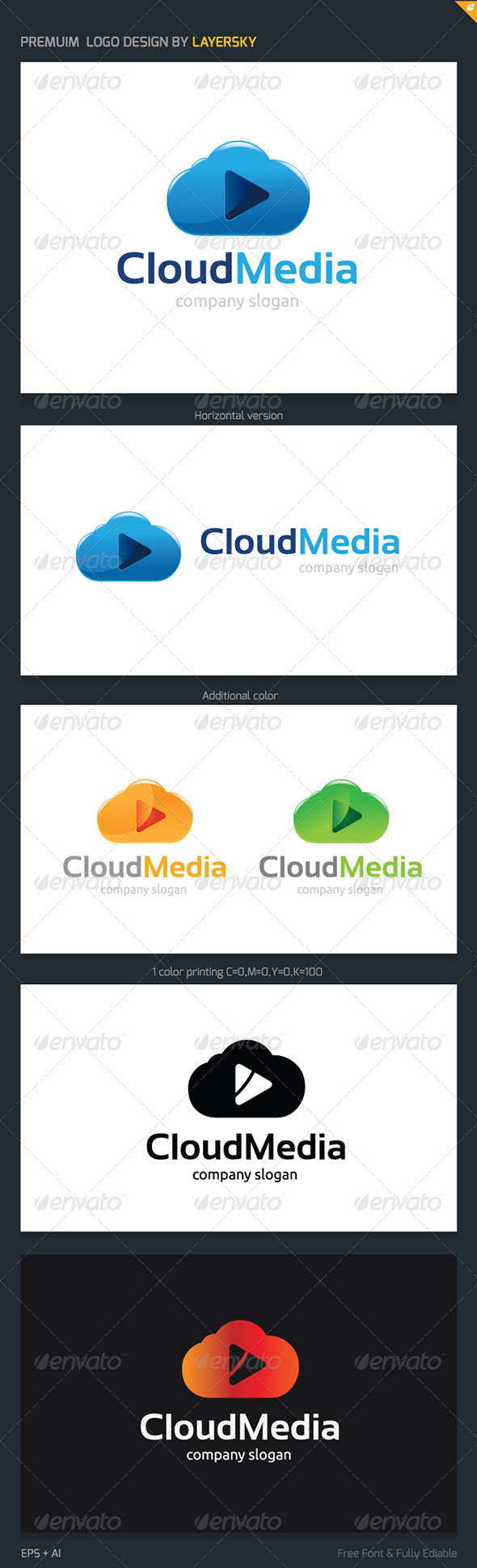 Cloud Media Logo - Nature Logo Templates