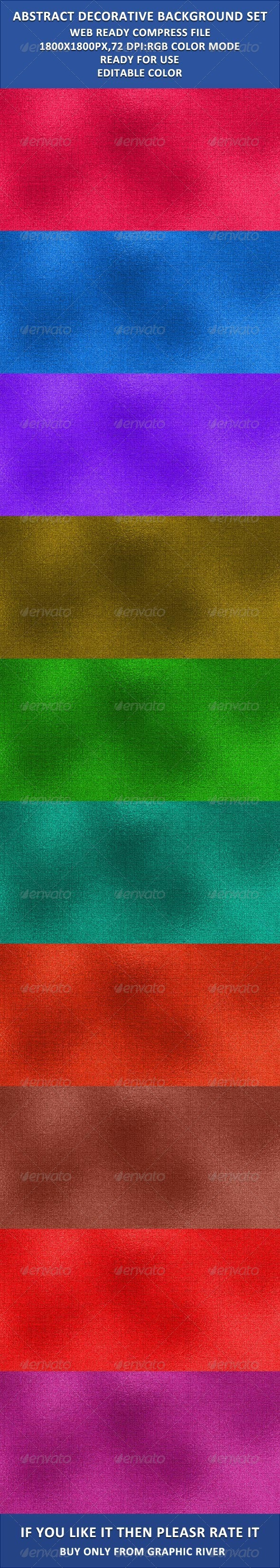 Decorative Fabric Background Set - Patterns Backgrounds