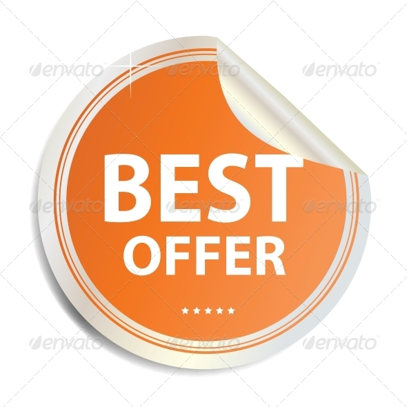 Vector Best offer label  sticker - Concepts Business