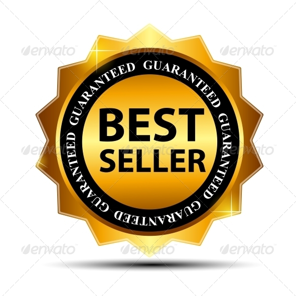 Vector Best Seller Label Sticker - Concepts Business