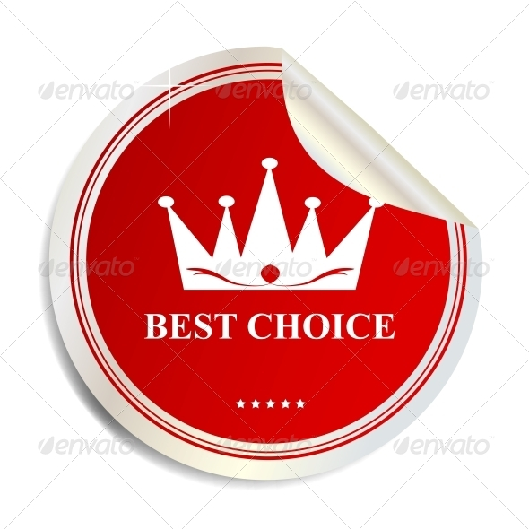 Vector Best Choice Label Sticker - Concepts Business