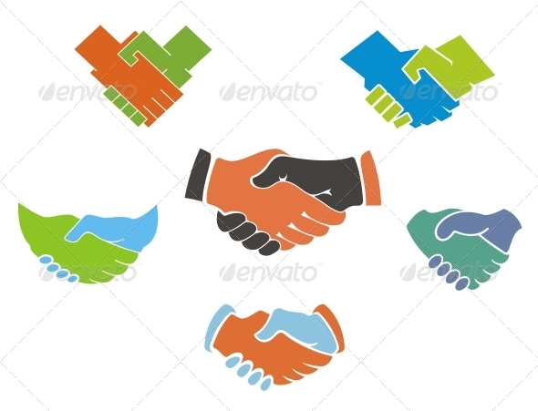 Business handshake symbols and icons - Concepts Business