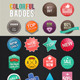 Colorful Badges - GraphicRiver Item for Sale