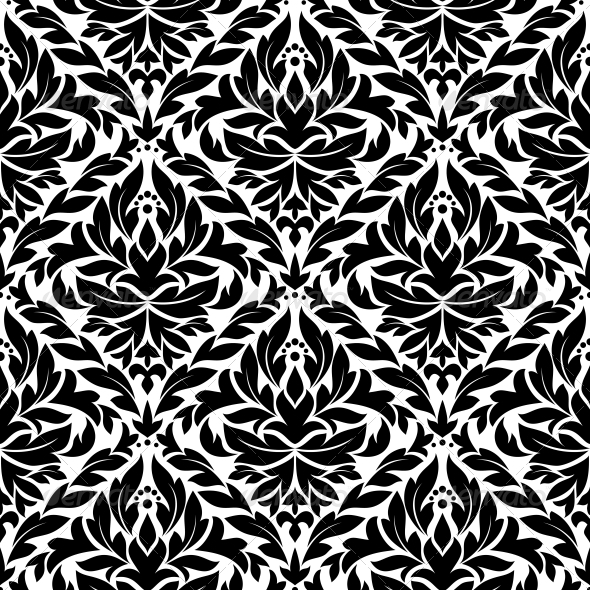 Damask Vintage Seamless Pattern Background - Patterns Decorative