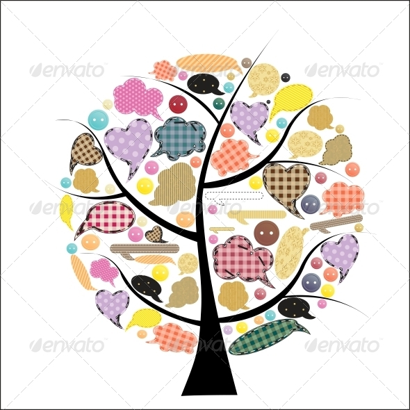 Abstract Vector spring tree illustration - Miscellaneous Vectors