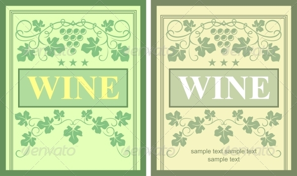 Wine labels - Backgrounds Decorative