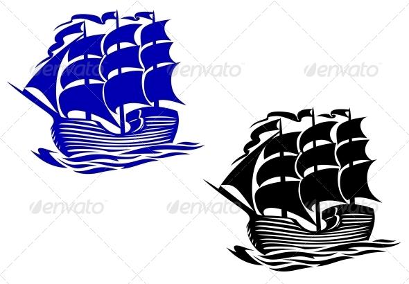 Brig sail ship - Travel Conceptual