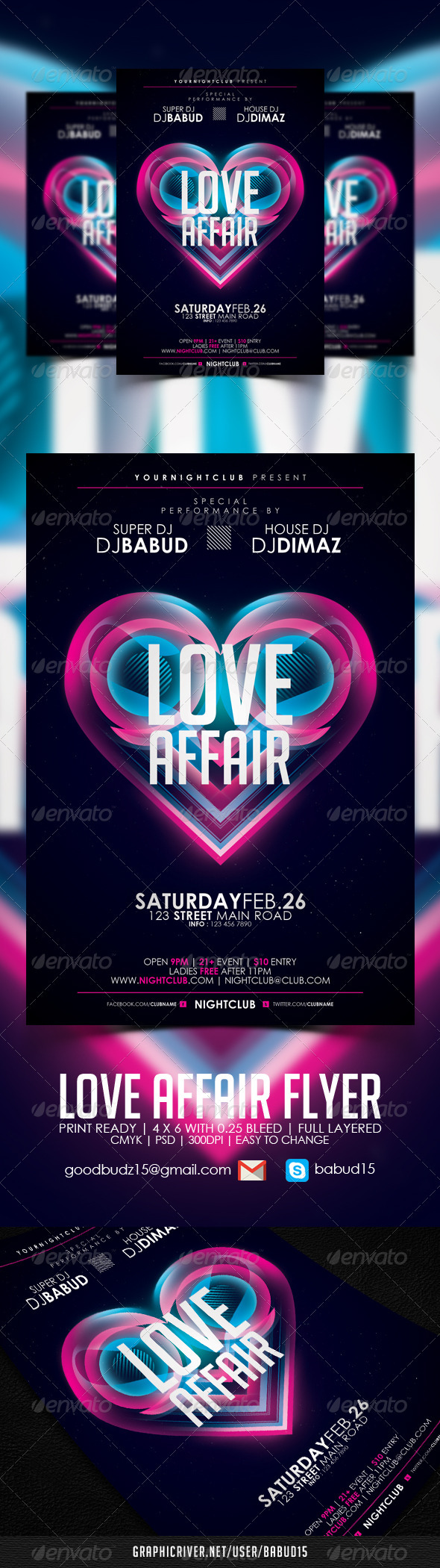Love Affair Flyer Template - Events Flyers