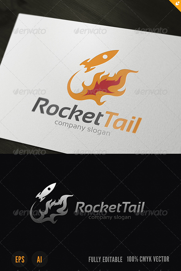 Rocket Tail Logo - Objects Logo Templates