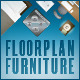 Floor Plan Furniture Pack - GraphicRiver Item for Sale