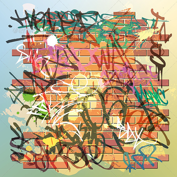 Graffiti Wall - Backgrounds Decorative