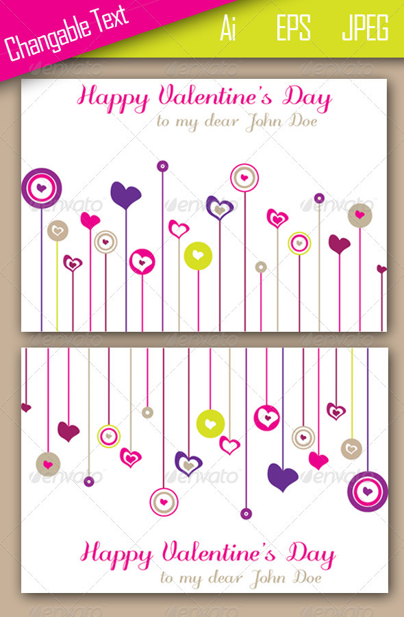Valentine's Card Template - Valentines Seasons/Holidays