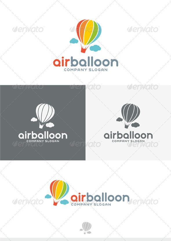 Air Balloon Logo - Objects Logo Templates